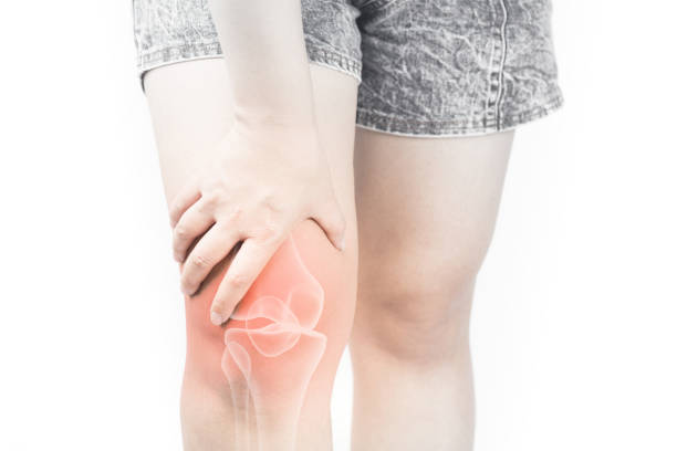 Knee bones pain stock photo
