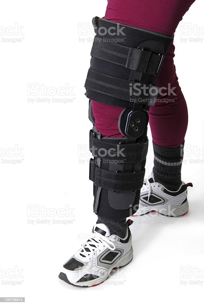 Knee brace royalty-free stock photo