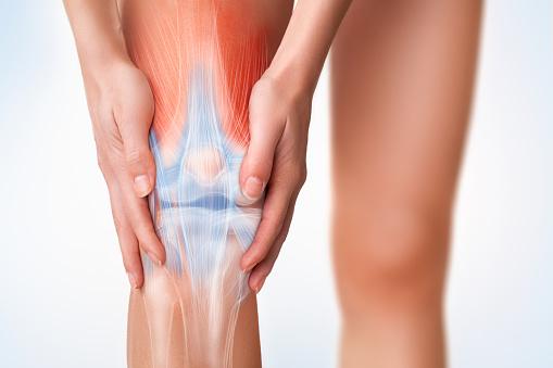 무릎 통증 영역입니다 건강관리와 의술에 대한 스톡 사진 및 기타 이미지
