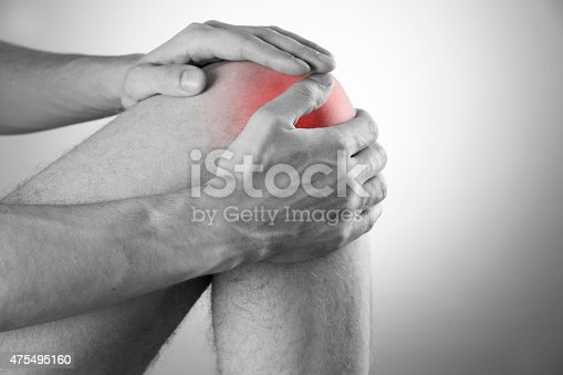 istock Knee pain in men 475495160