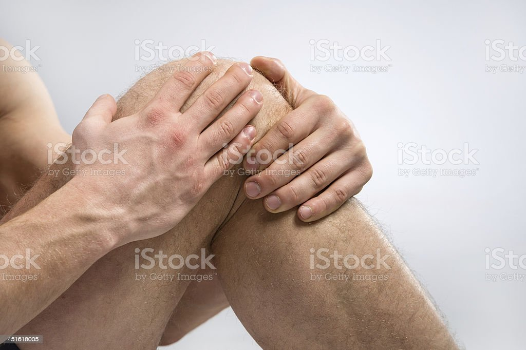 Knee Pain. stock photo