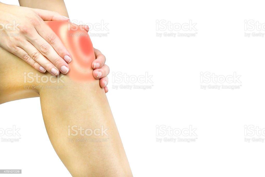 Dolor de la rodilla - foto de stock