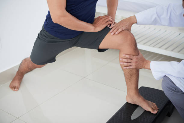 Knee theraphy stock photo
