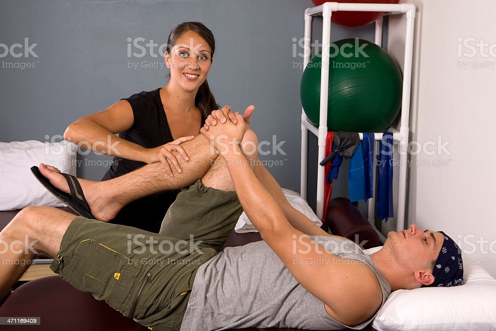 Knee Therapy royalty-free stock photo