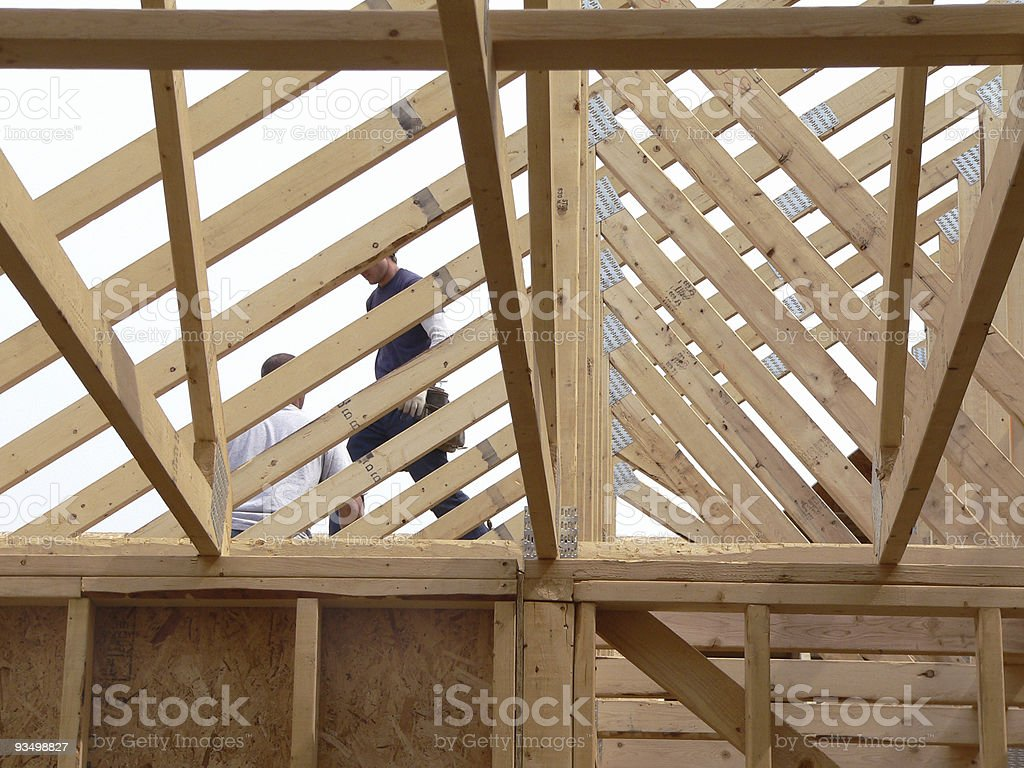 Knee Wall and Roof royalty-free stock photo