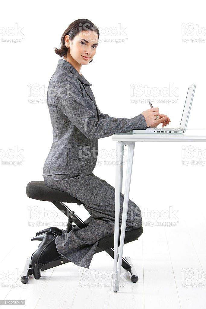 Kneeling chair royalty-free stock photo