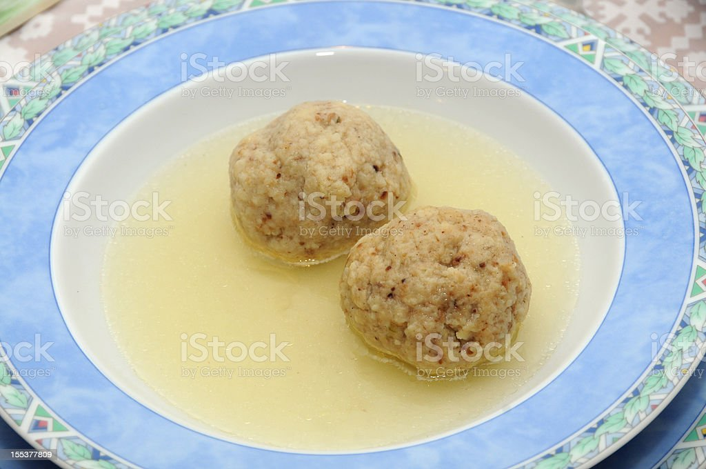 Kneidel soup royalty-free stock photo