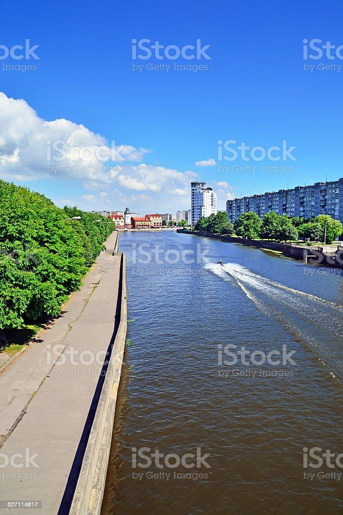 Kneiphof island and Fishing village. Kaliningrad, Russia stock photo