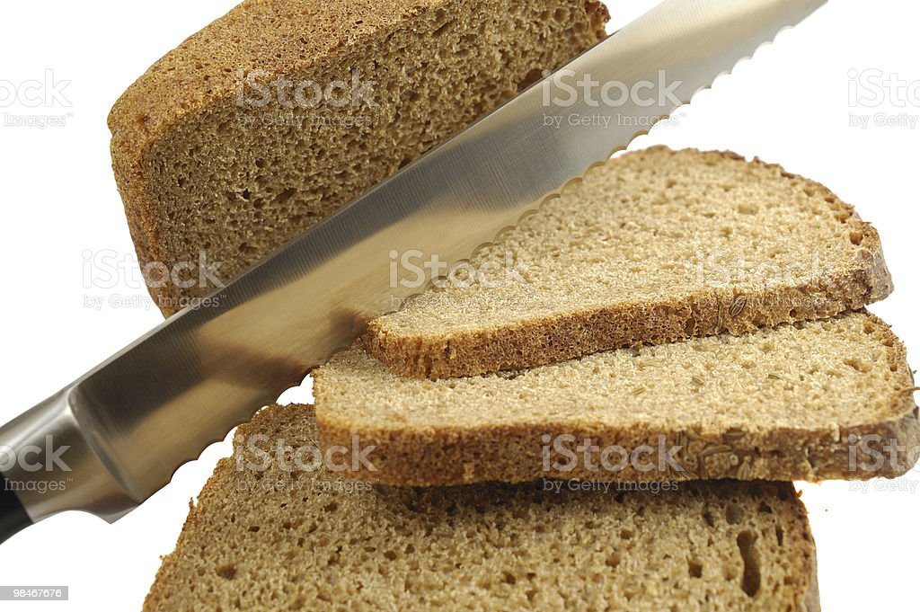Knife and bread royalty-free stock photo