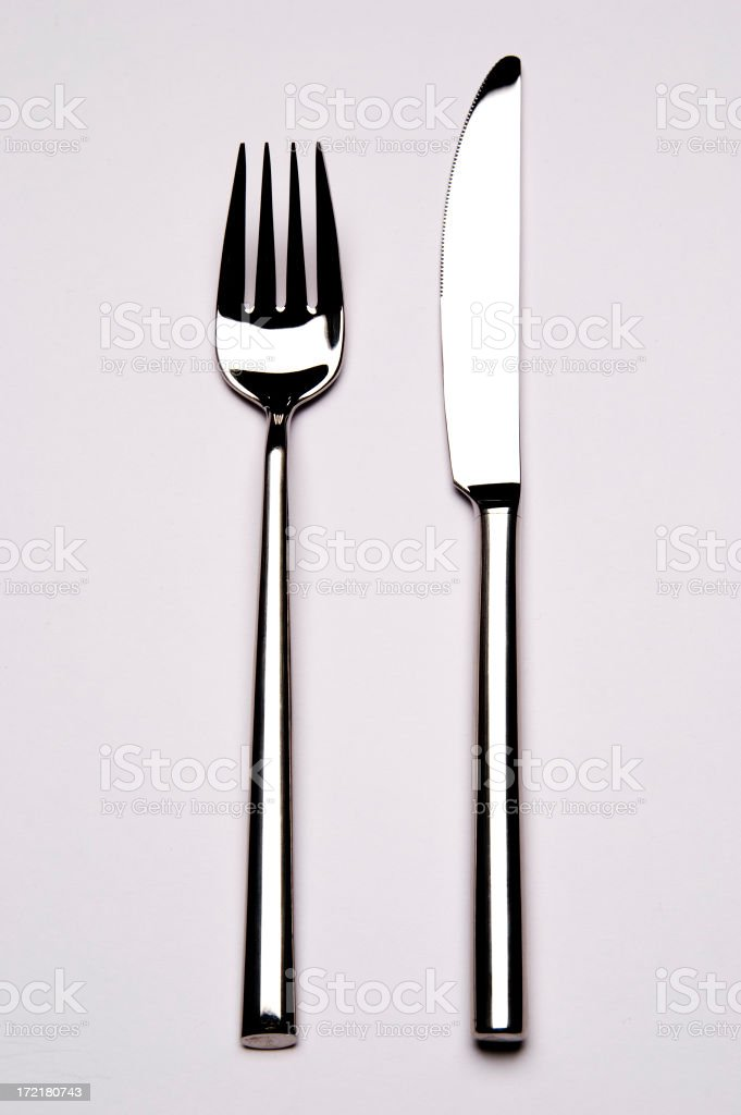Knife And Fork stock photo