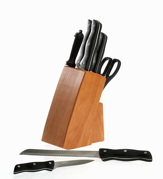 Knife Block stock photo