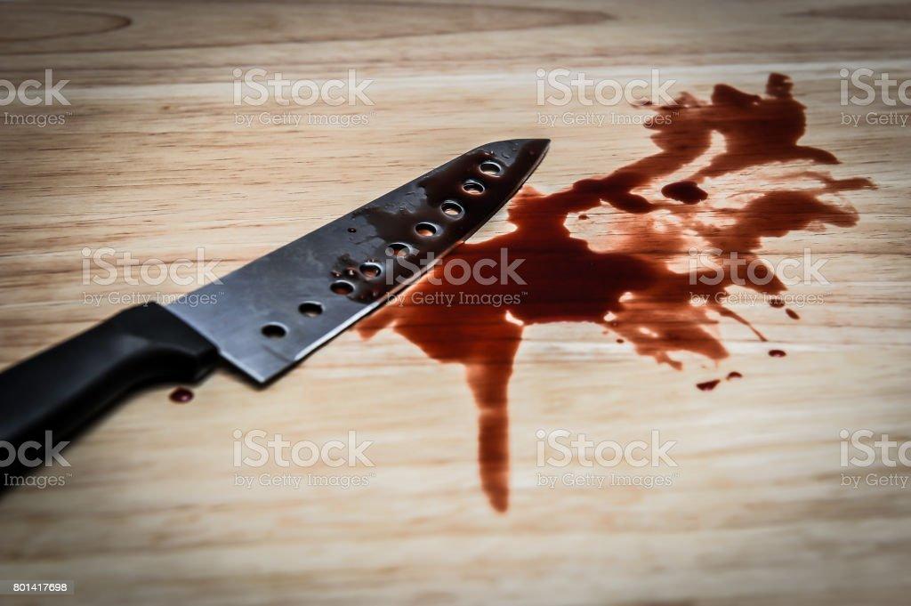 knife blood stock photo