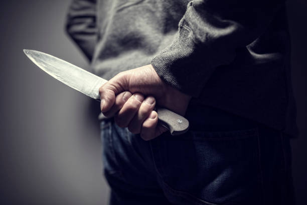 Knife crime stock photo