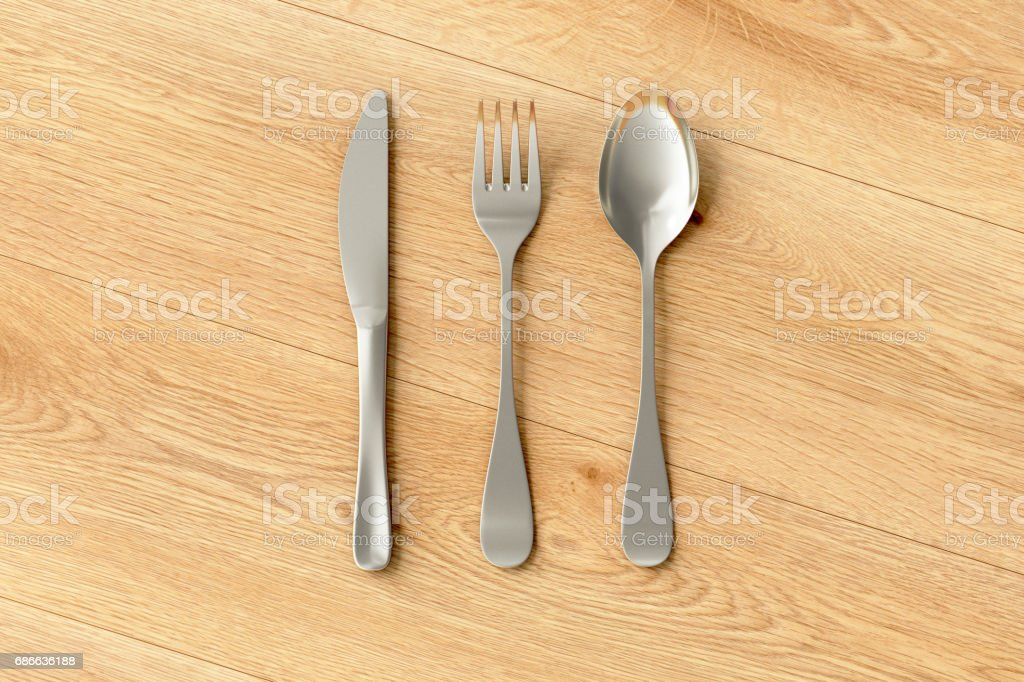 Knife, fork and spoon isolated royalty-free stock photo