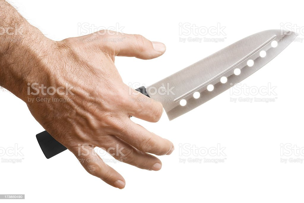 Knife in Hand royalty-free stock photo