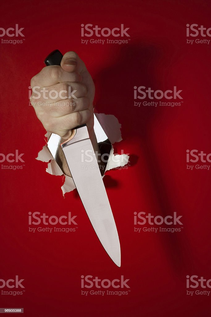 Knife in the hand royalty-free stock photo