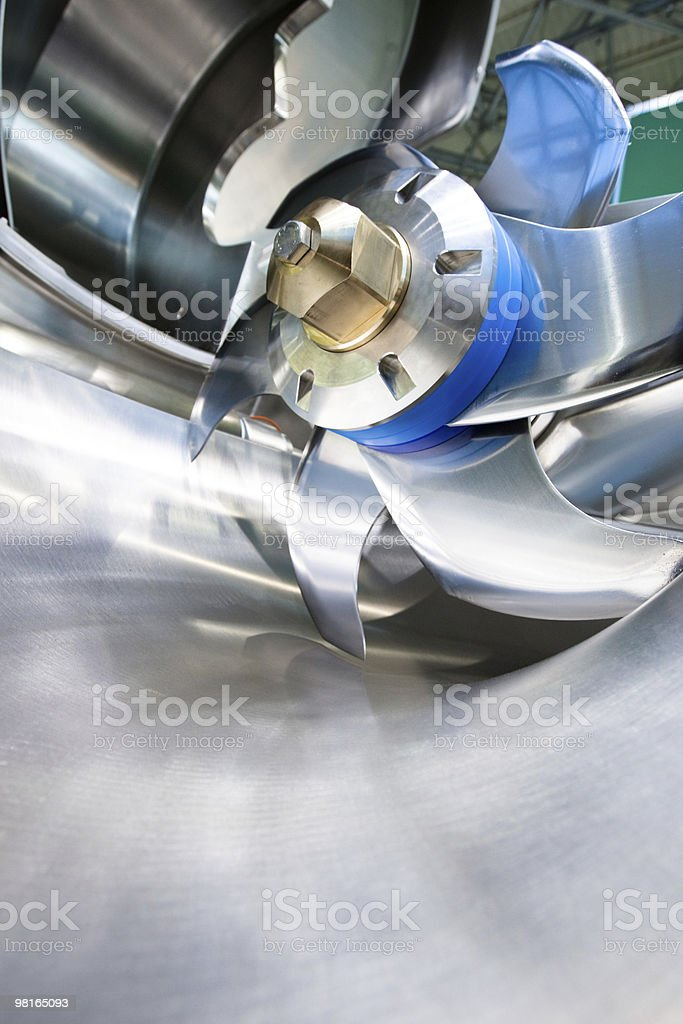 Knife of professional mincing machine royalty-free stock photo