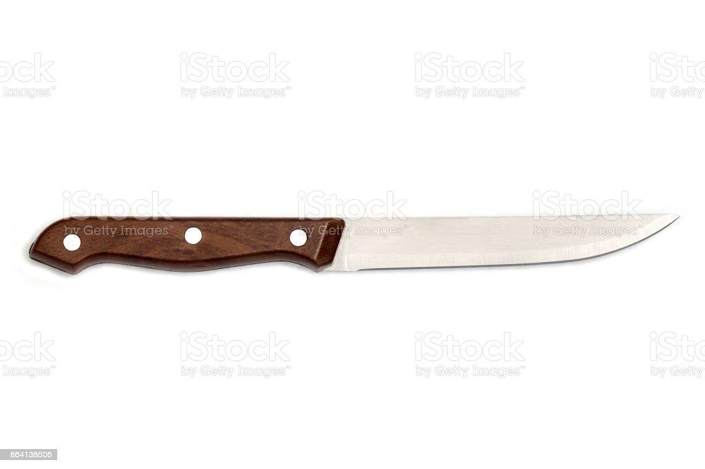 Knife on white background isolated royalty-free stock photo