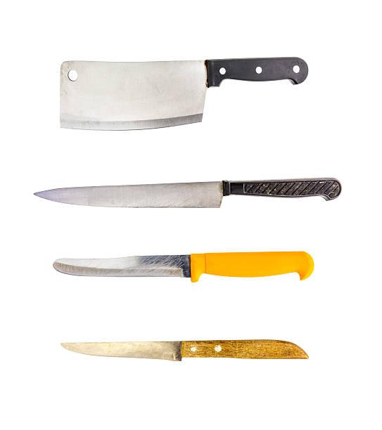Knife on white isolate background. stock photo