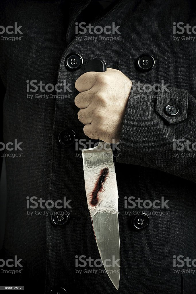 Knife Wounded stock photo