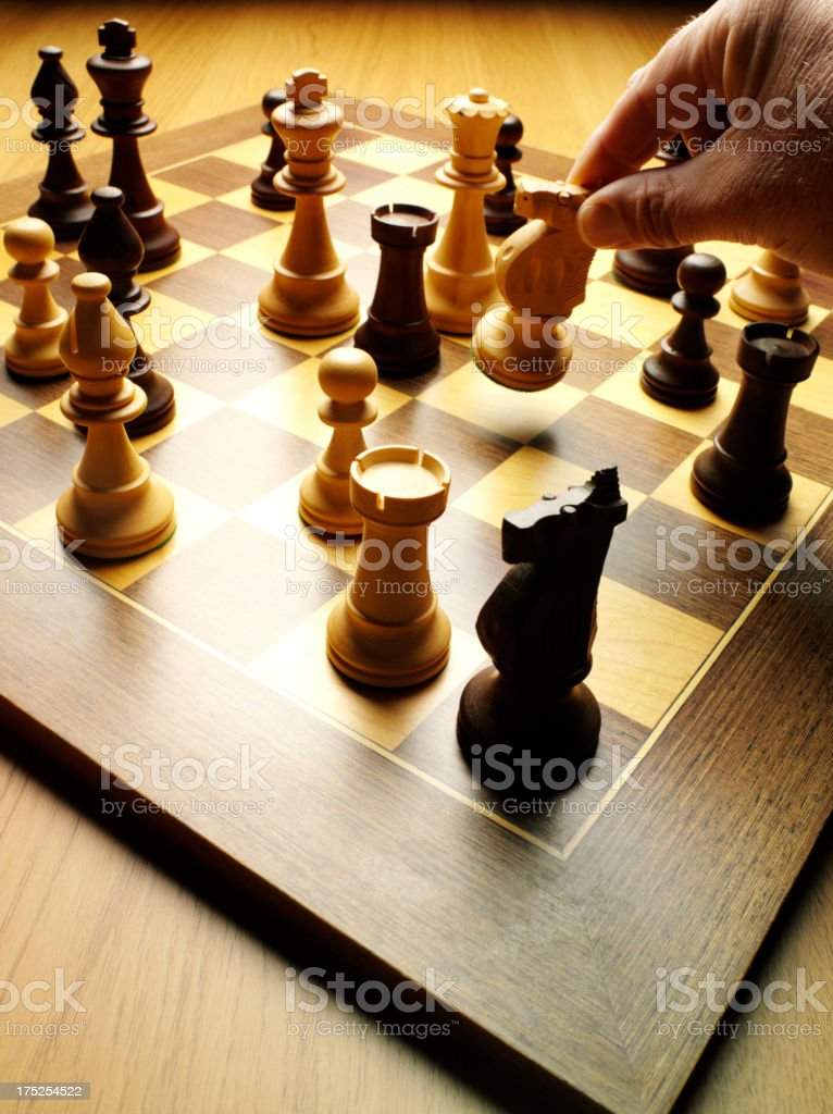 Knight in a Game of Chess royalty-free stock photo