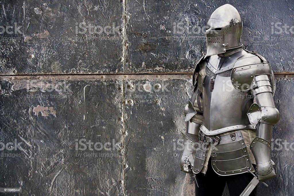 Knight en traje acorazado - foto de stock