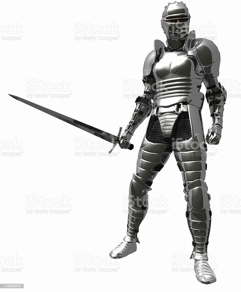 Knight in Medieval Armour stock photo