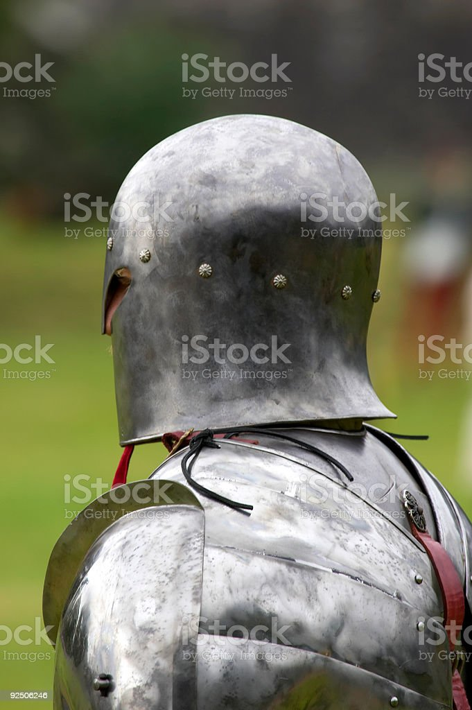 Knight in shining armour royalty-free stock photo