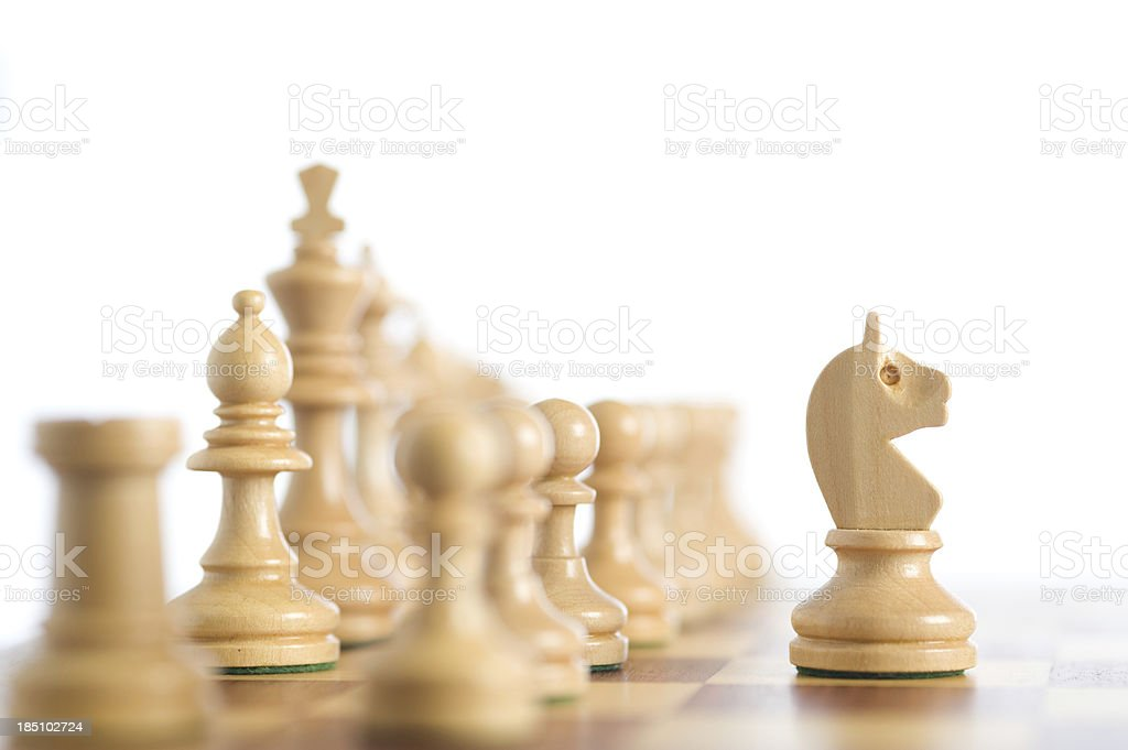 Knight moves stock photo