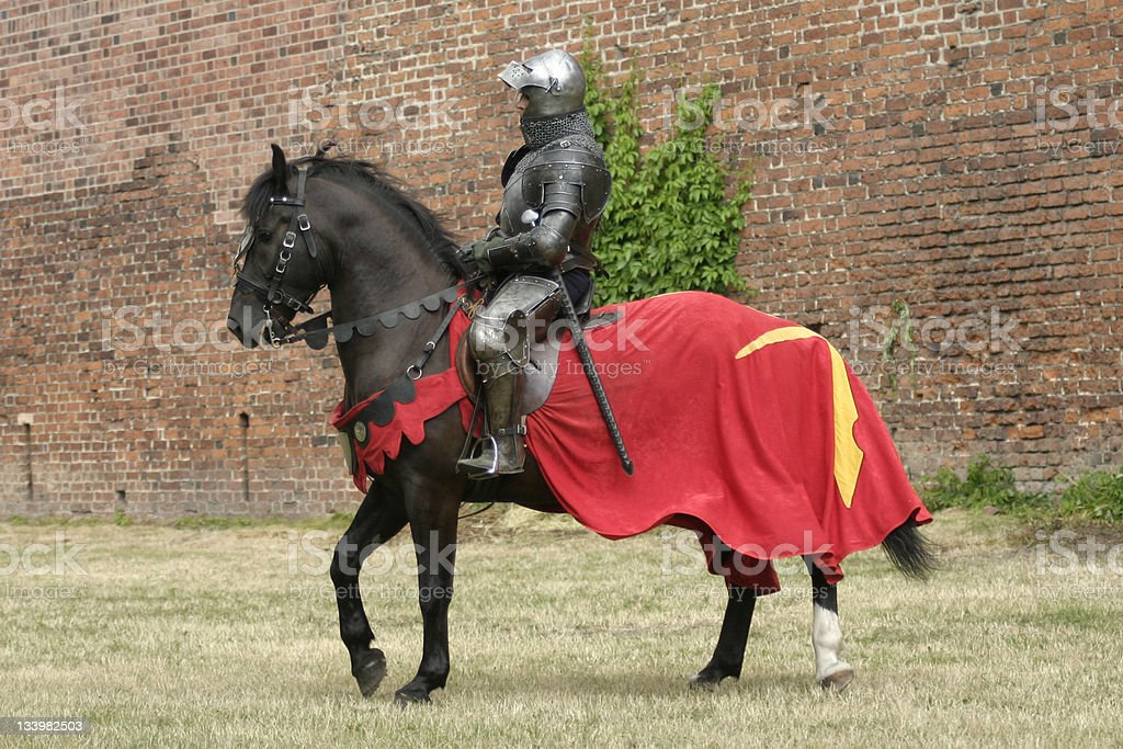 Ritter auf Pferd – Foto