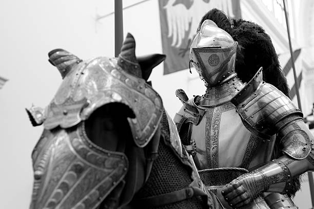 knight on horse - knight on horse stock photos and pictures