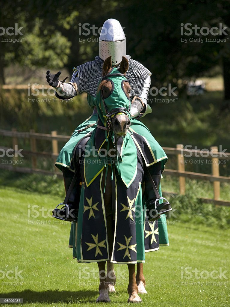 Knight on horse royalty-free stock photo