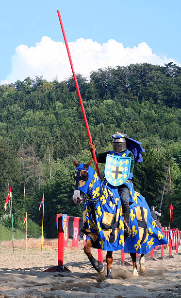 knight on horseback - knight on horse stock photos and pictures