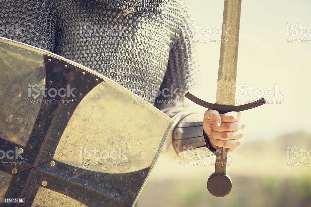 Knight. Photo in vintage style stock photo