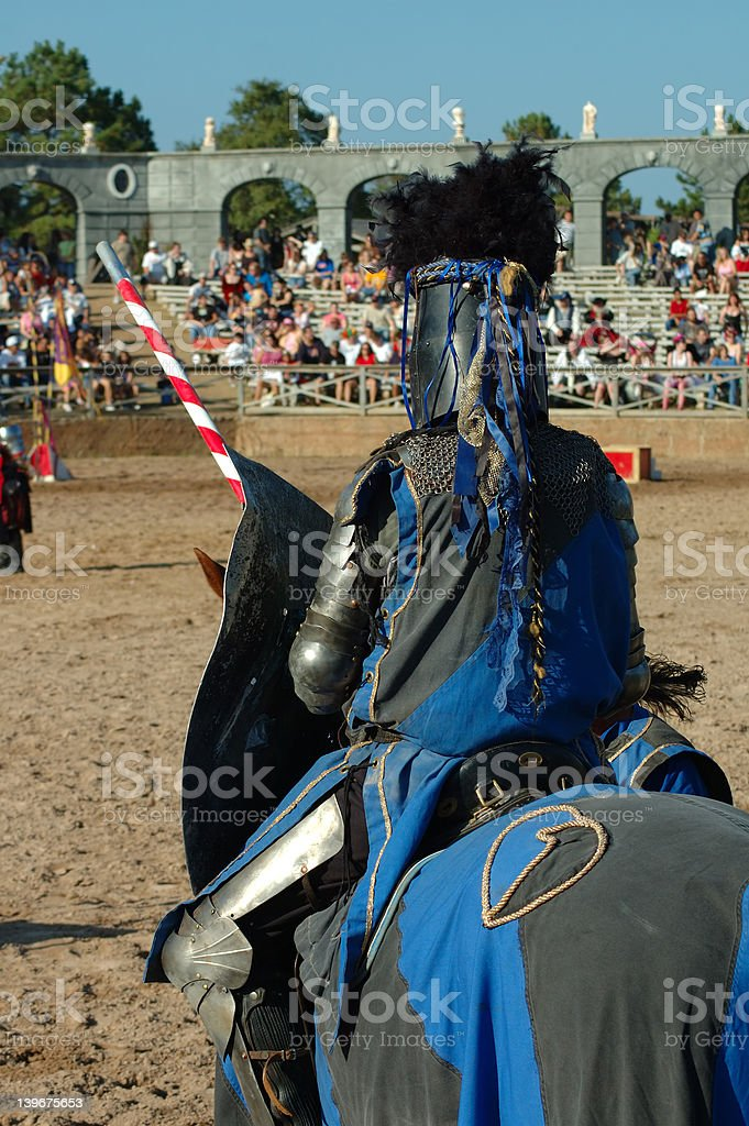 Knight preparing for a Joust stock photo