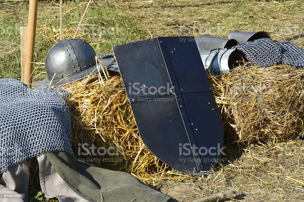 knight weapons stock photo