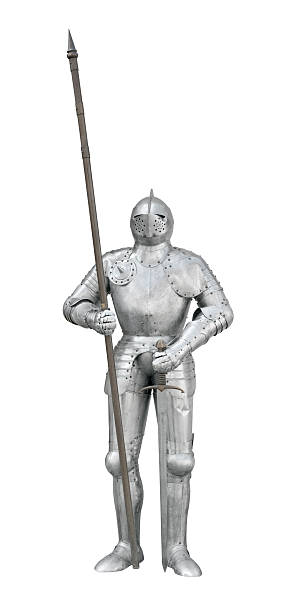 knight with spear and sword - the crusades stock photos and pictures