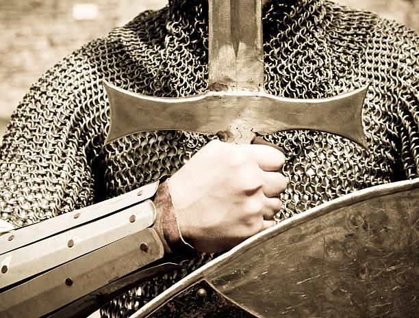 Chevalier avec épée et bouclier - Photo