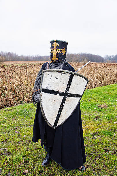 knightly figure - the crusades stock photos and pictures