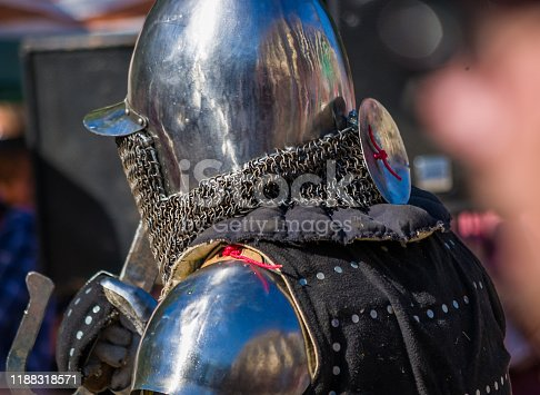 Knight's armor for historical reconstructions of medieval battles
