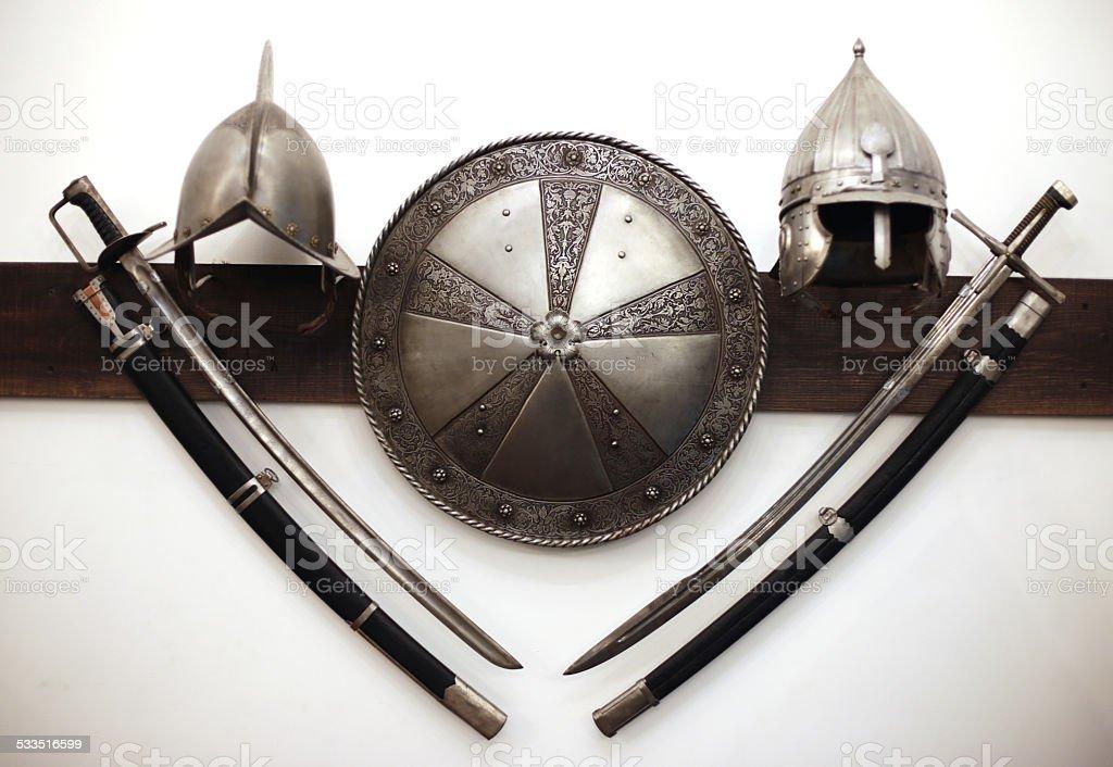 Knights armour stock photo