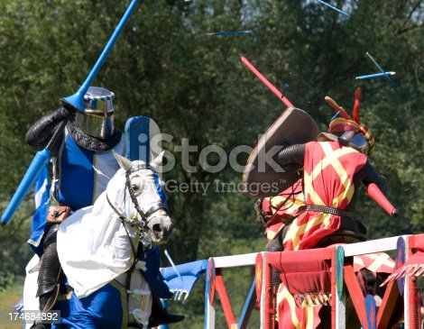 istock Knights clash at a Joust 174684392