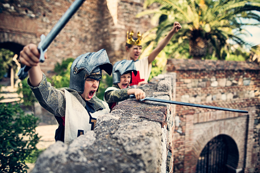Knights defending the castle