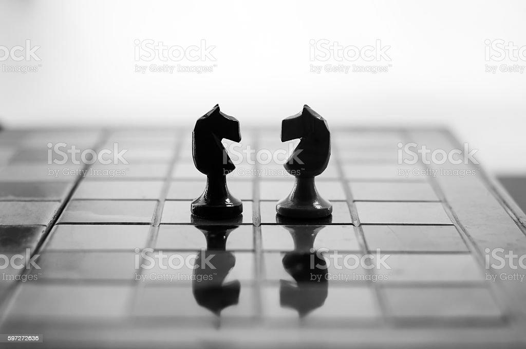 Knights face to face. photo libre de droits