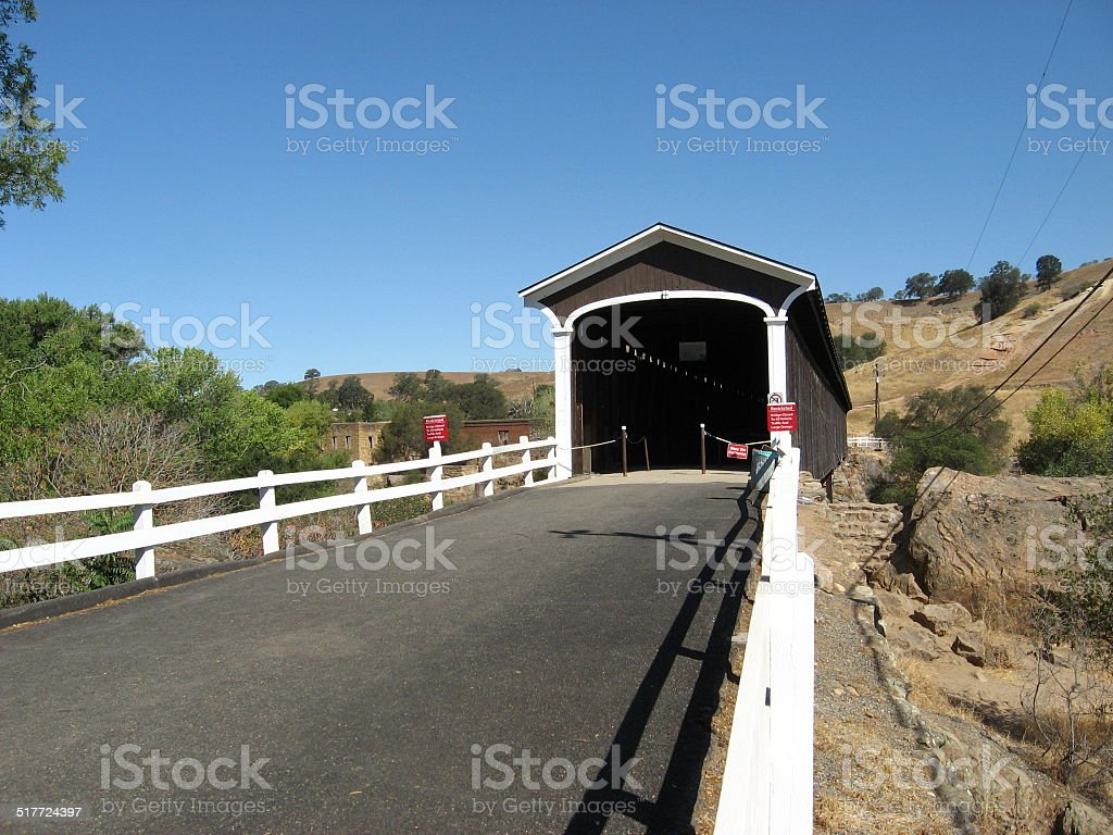 Knights Ferry Covered Bridge stock photo