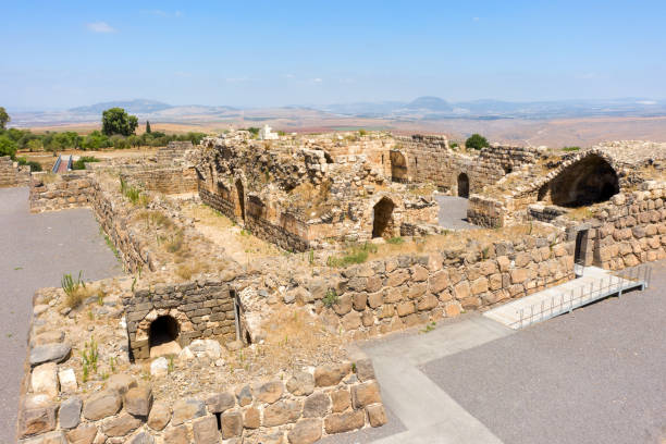 knight's fortress Kochav HaYarden or Belvoir in Israel stock photo
