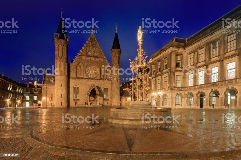 Knights' Hall at Binnenhof in The Hague stock photo
