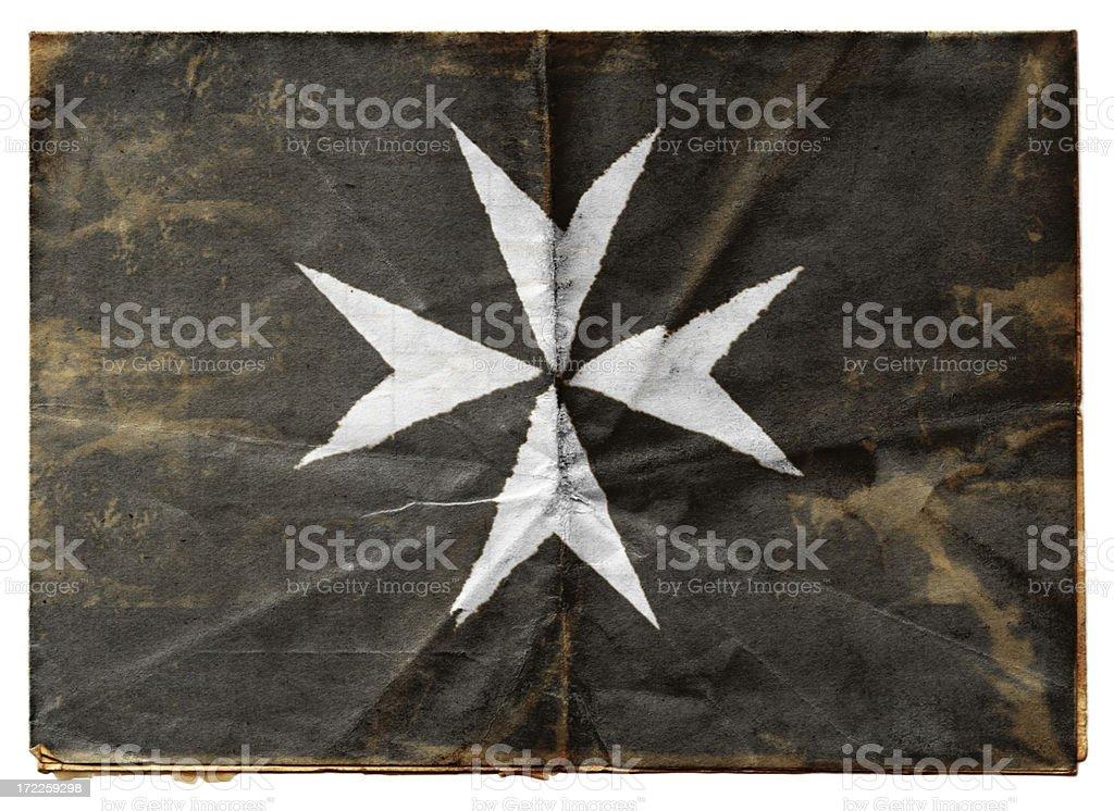Knights Hospitaller flag (XXL) stock photo