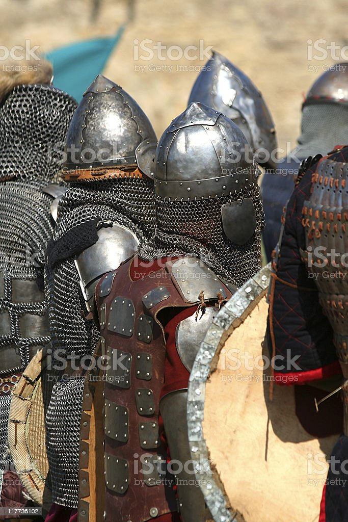 knights in shining armor / historical festival royalty-free stock photo