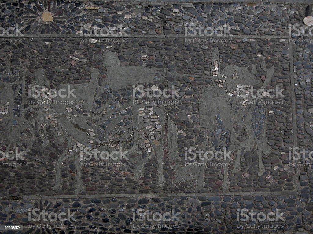 Knights, Pathway mosaic, Emperor's garden, Forbidden City royalty-free stock photo